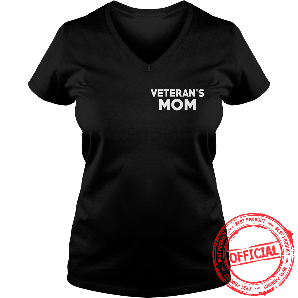 Veterans Mom Ladies V Neck