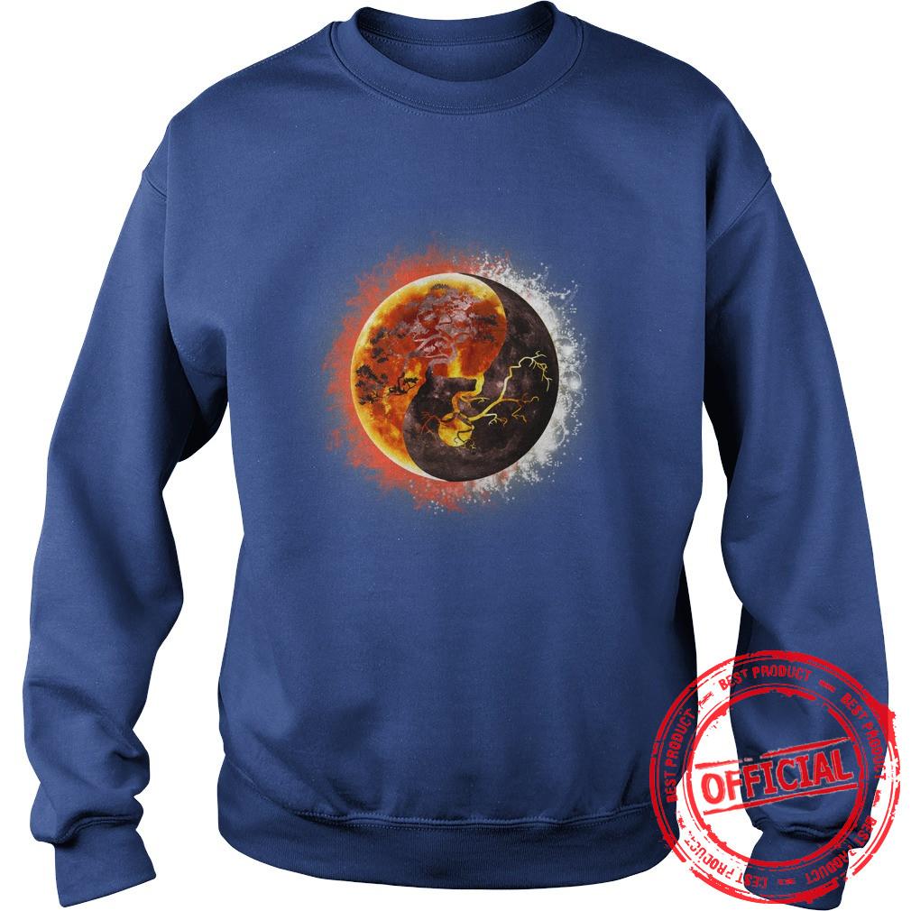 Yin Yang Bonsai Tree Eclipse Sweat Shirt