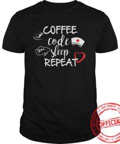 Coffee Cocle Sleep Repeat Shirt