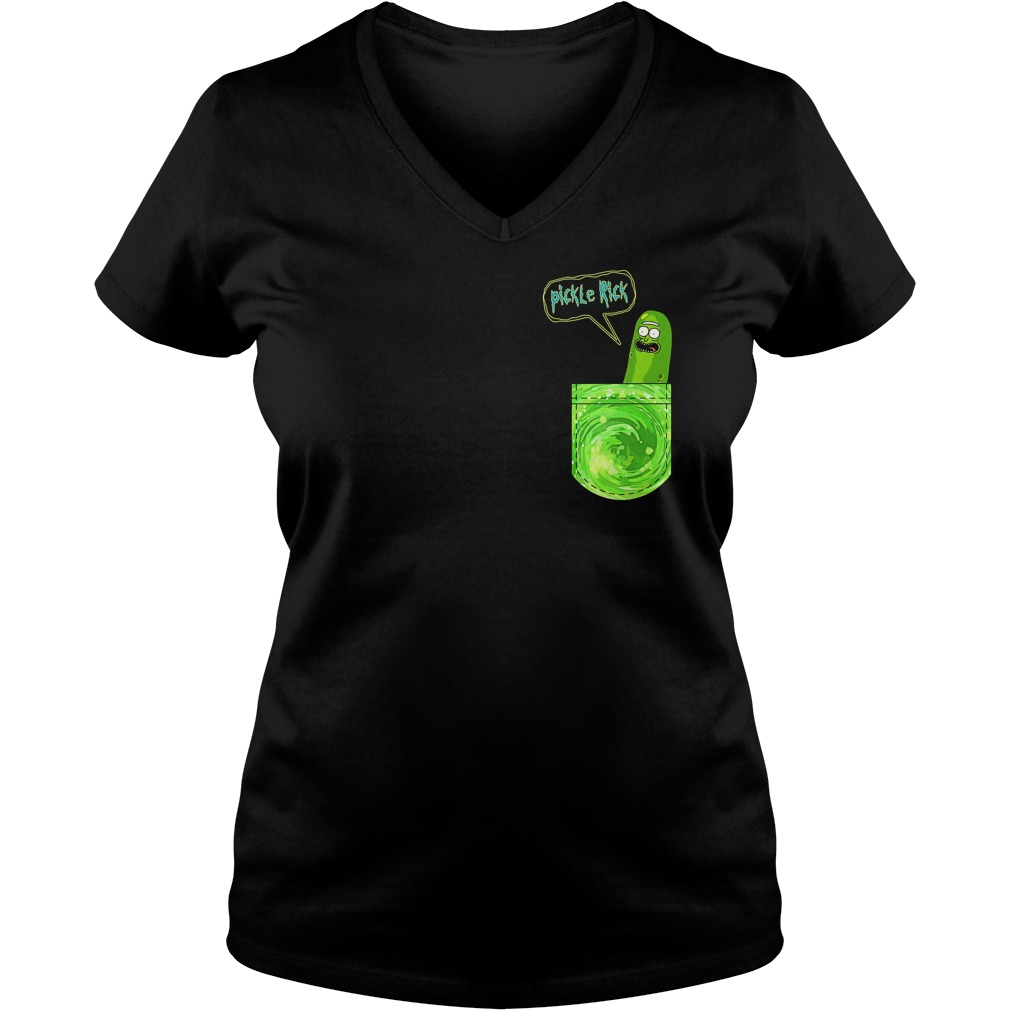 Pickle Rick Pocket V Neck