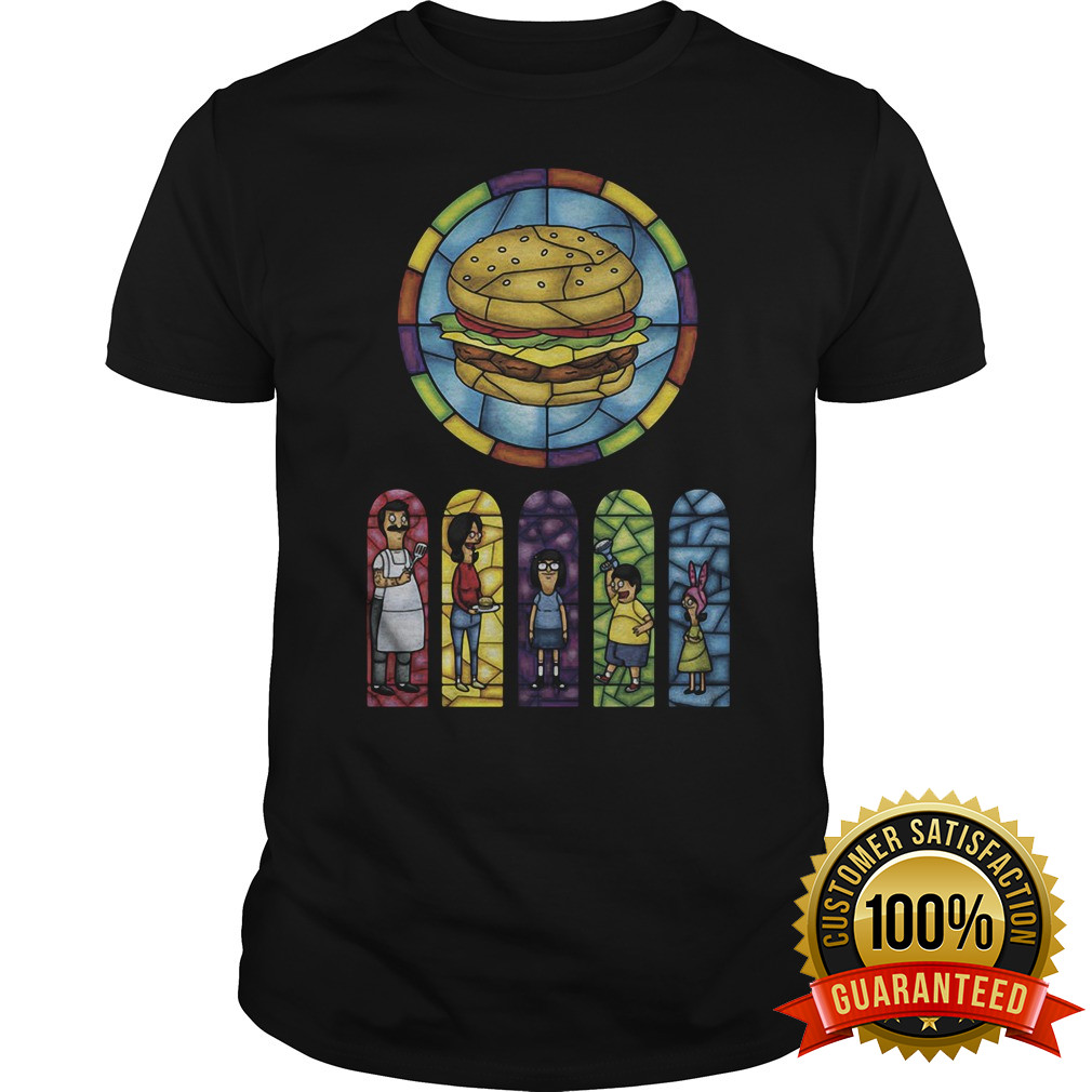 Ripple Junction Burgers Comic Stained Glass Shirt