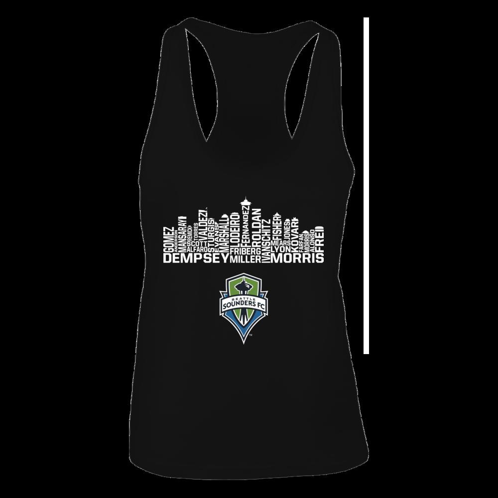 Seattle Sounders Fc Skyline Tank Top