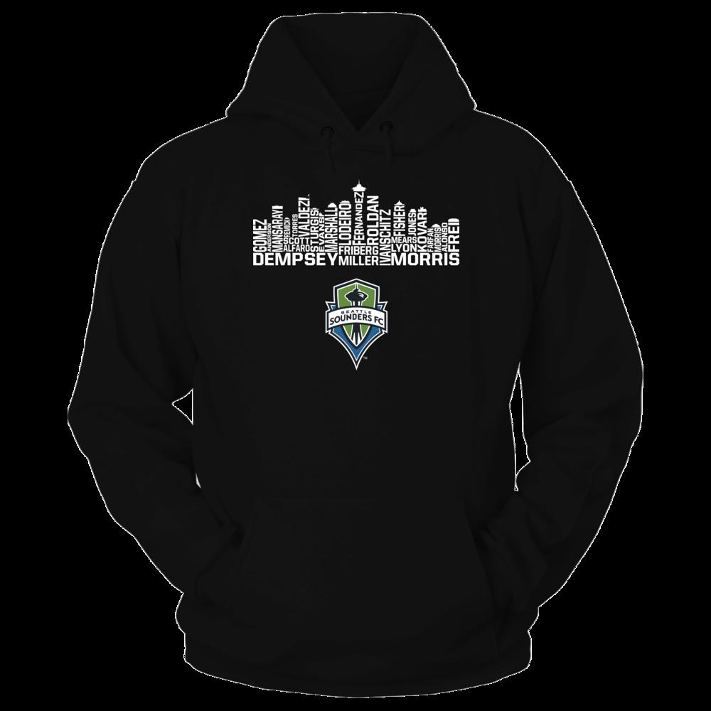 Seattle Sounders Fc Skyline Hoodie