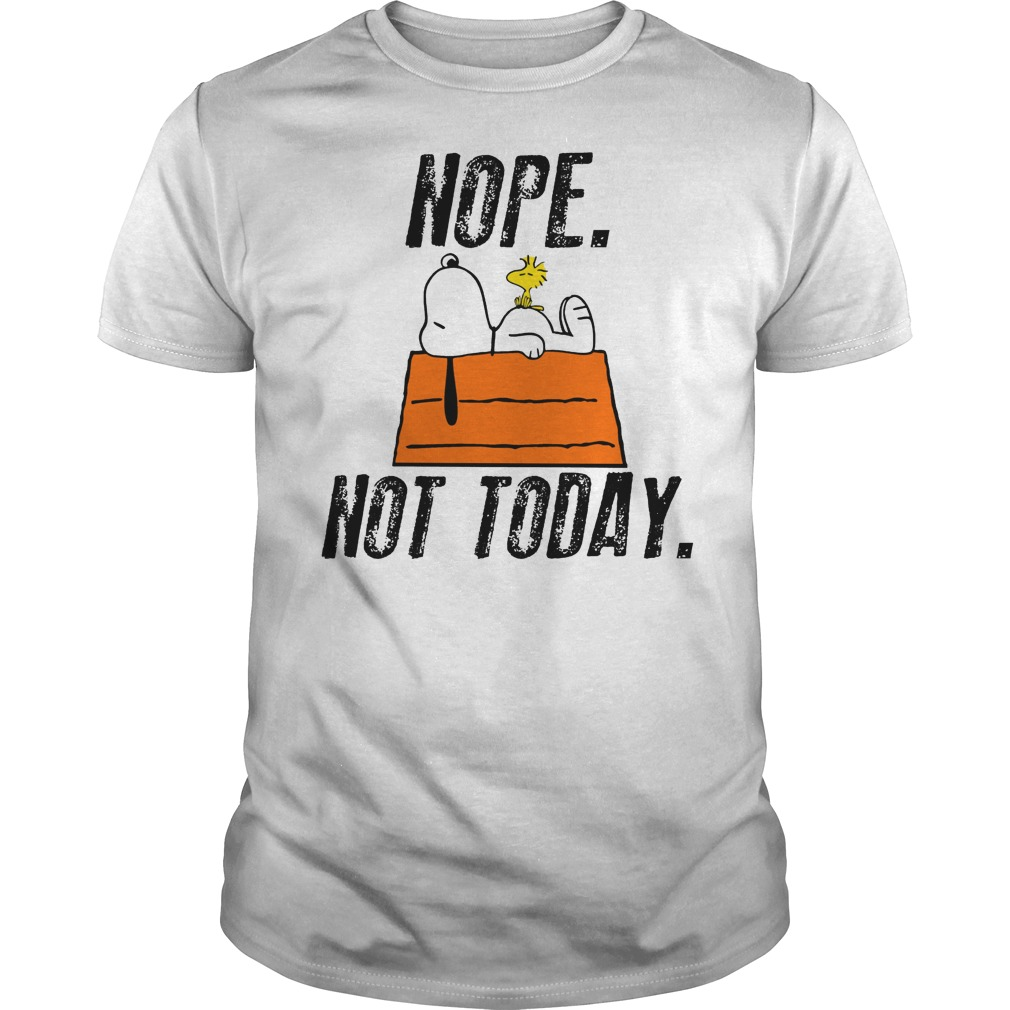 Snoopy Peanuts Nope Not Today Guy Shirt