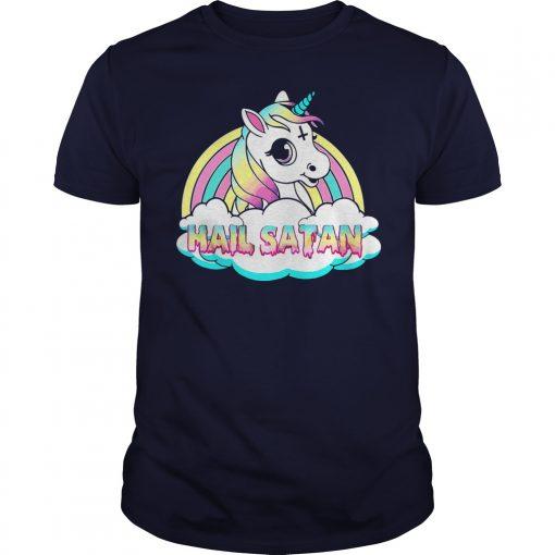 Unicorn Hail Satan Shirt