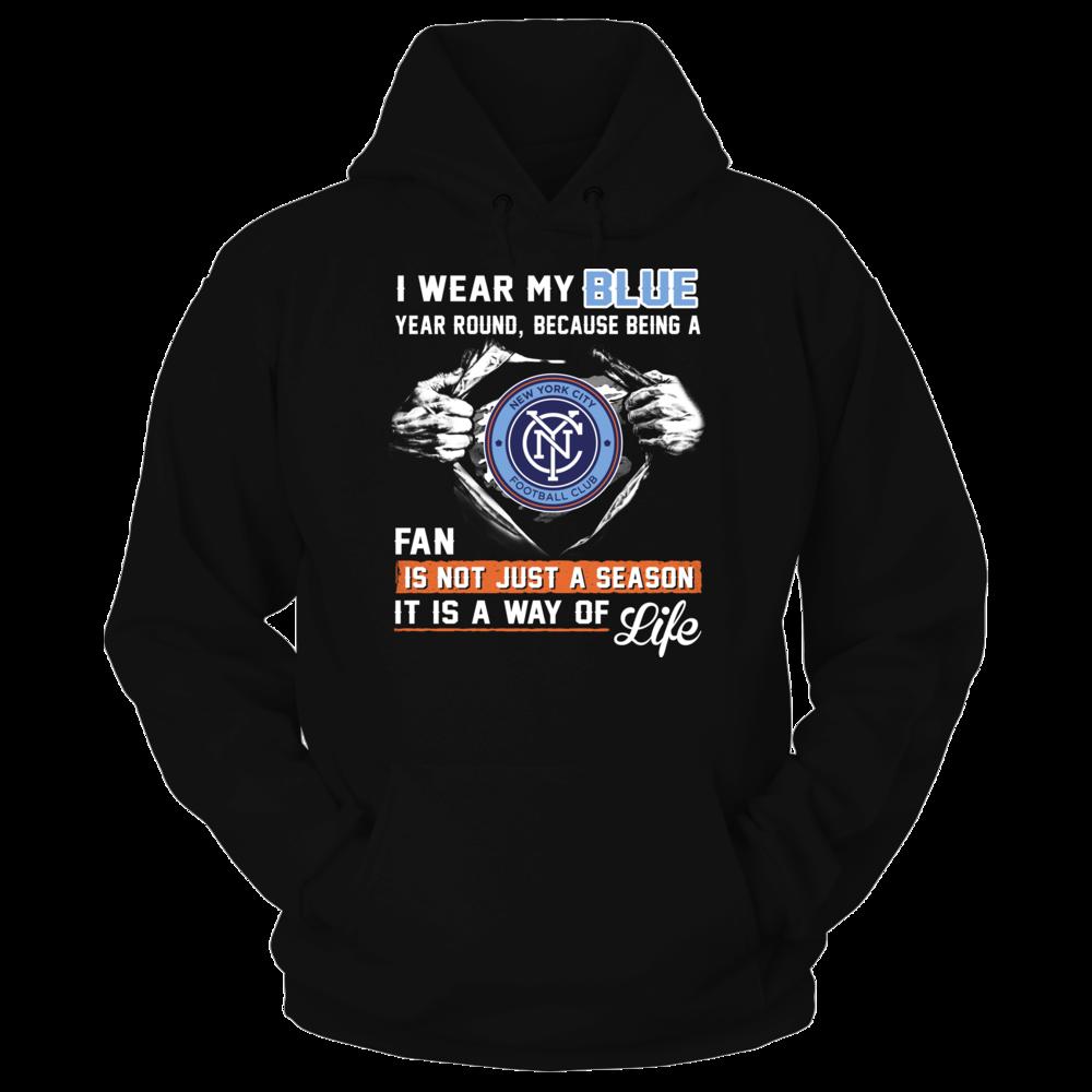 Wear Blue New York City Fc Hoodie