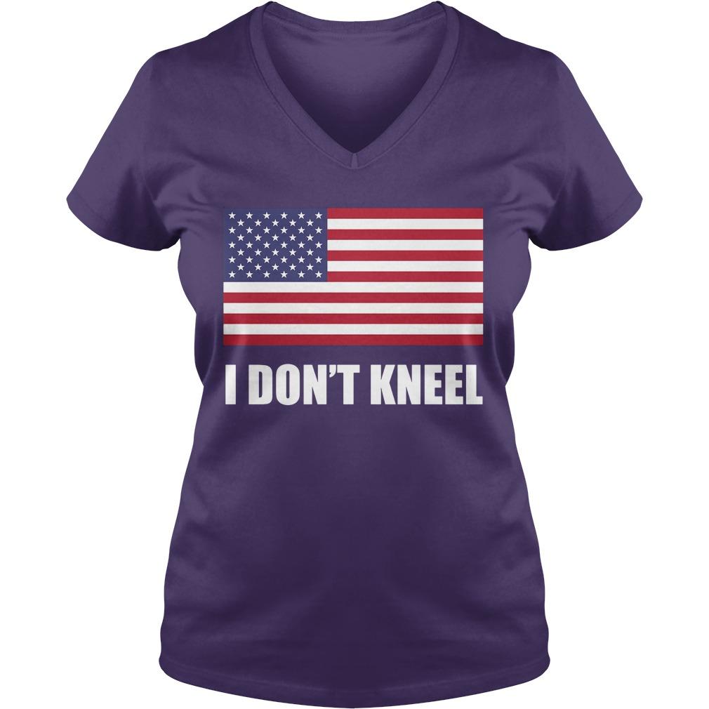 [flag Color Version] Tomi Lahren I Don't Kneel V Neck