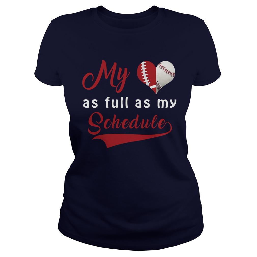 Baseball Full Schedule Ladies Tee