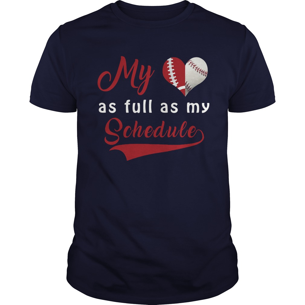 Baseball Full Schedule Shirt
