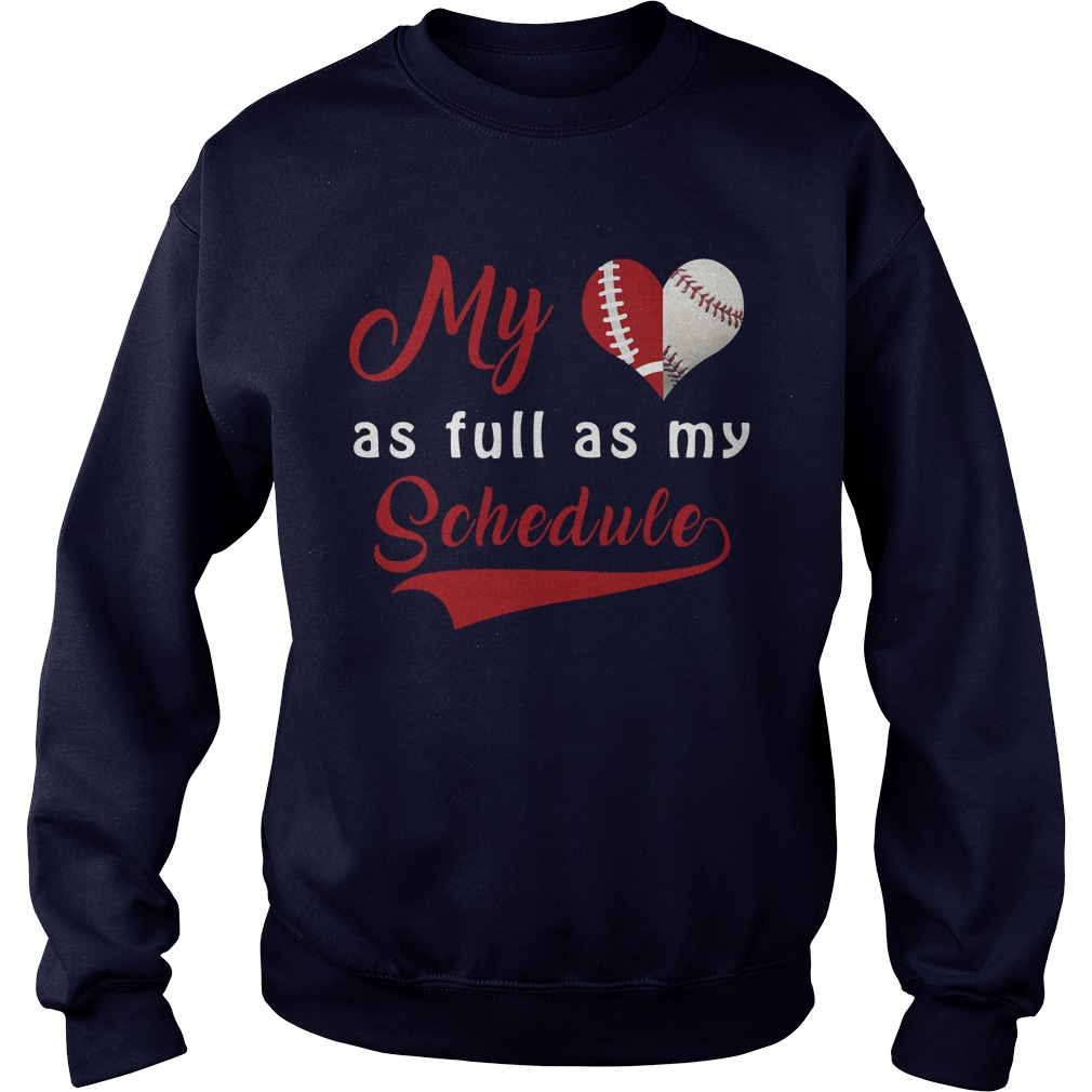 Baseball Full Schedule Sweat Shirt