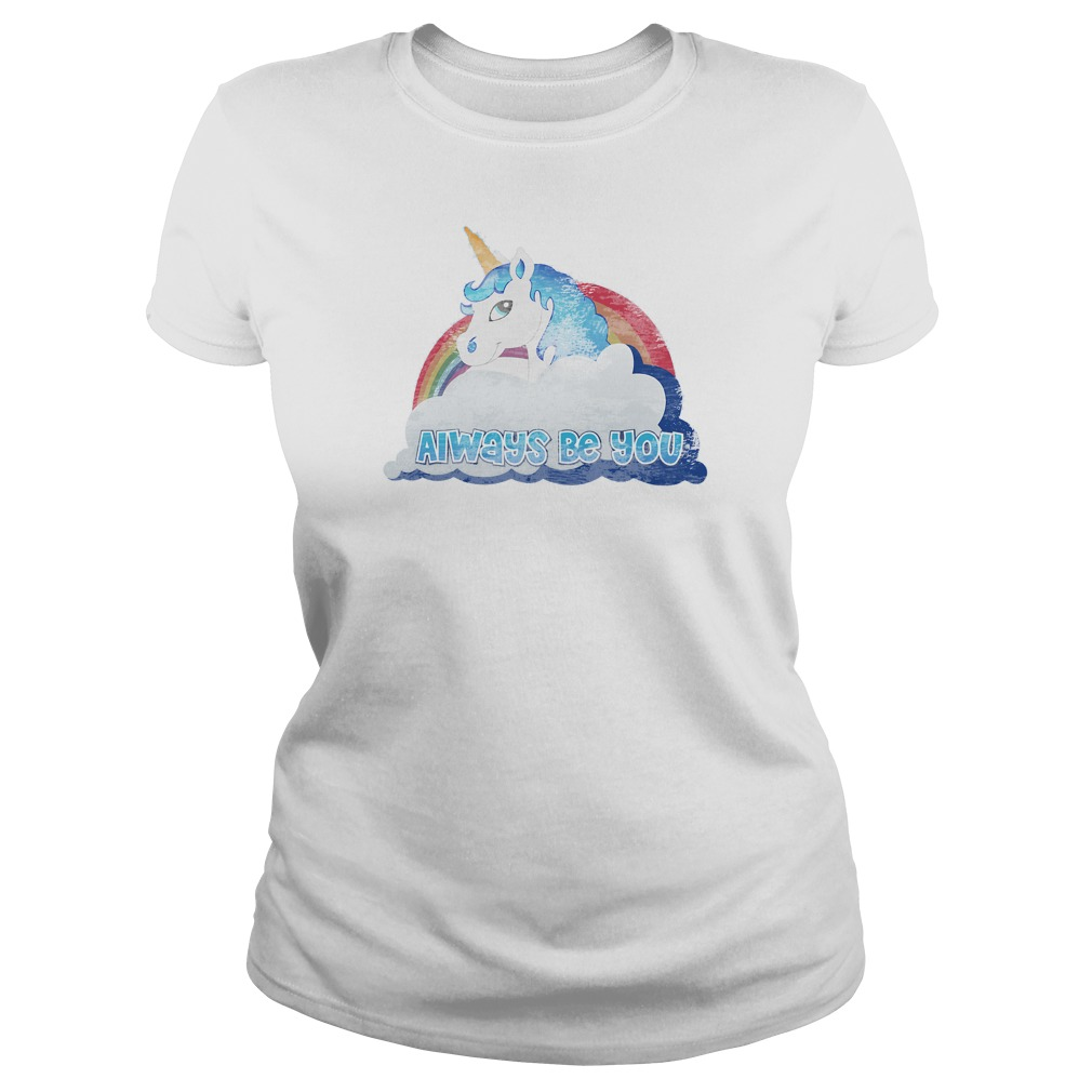 Central Intelligence Unicorn Always Be You Ladies Tee