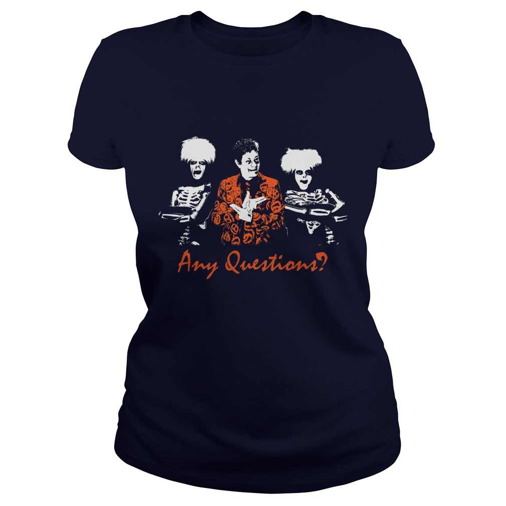 David S Pumpkin Any Questions Ladies Tee