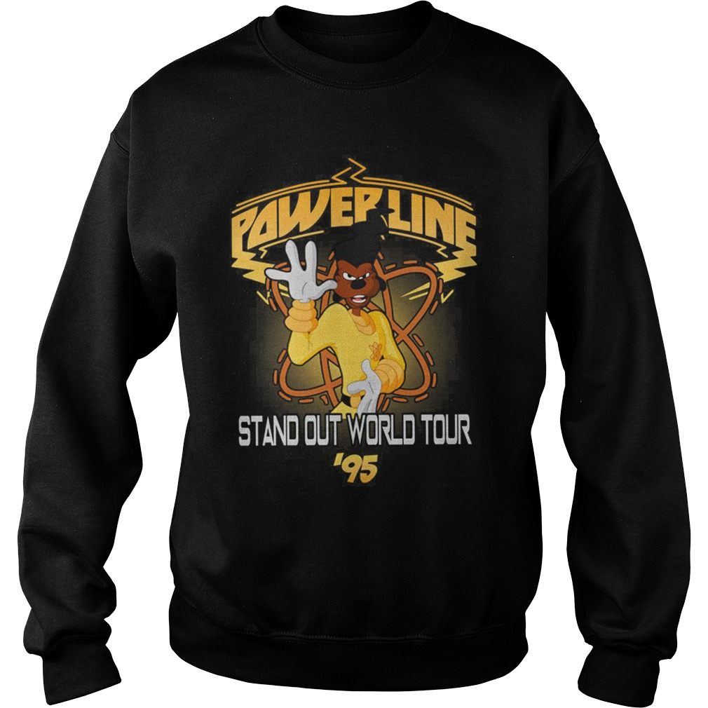 Disney Goofy Movie Powerline World Tour Sweat Shirt