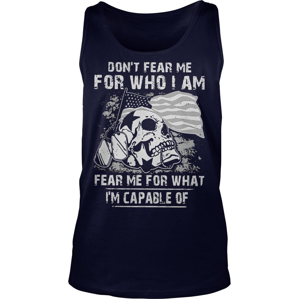 Dont Fear Fear Guy Tank Top