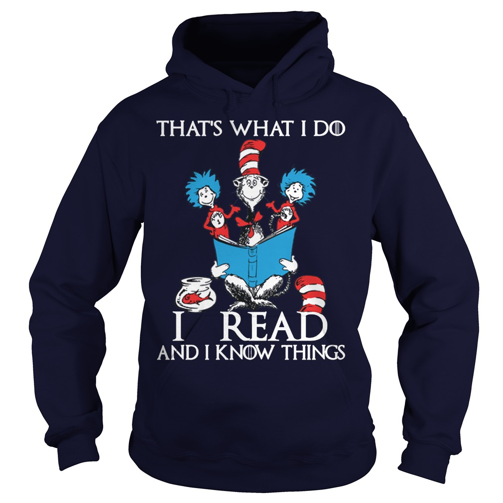 Dr Seuss Read Know Things Hoodie