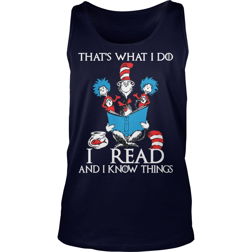 Dr Seuss Read Know Things Tank Top