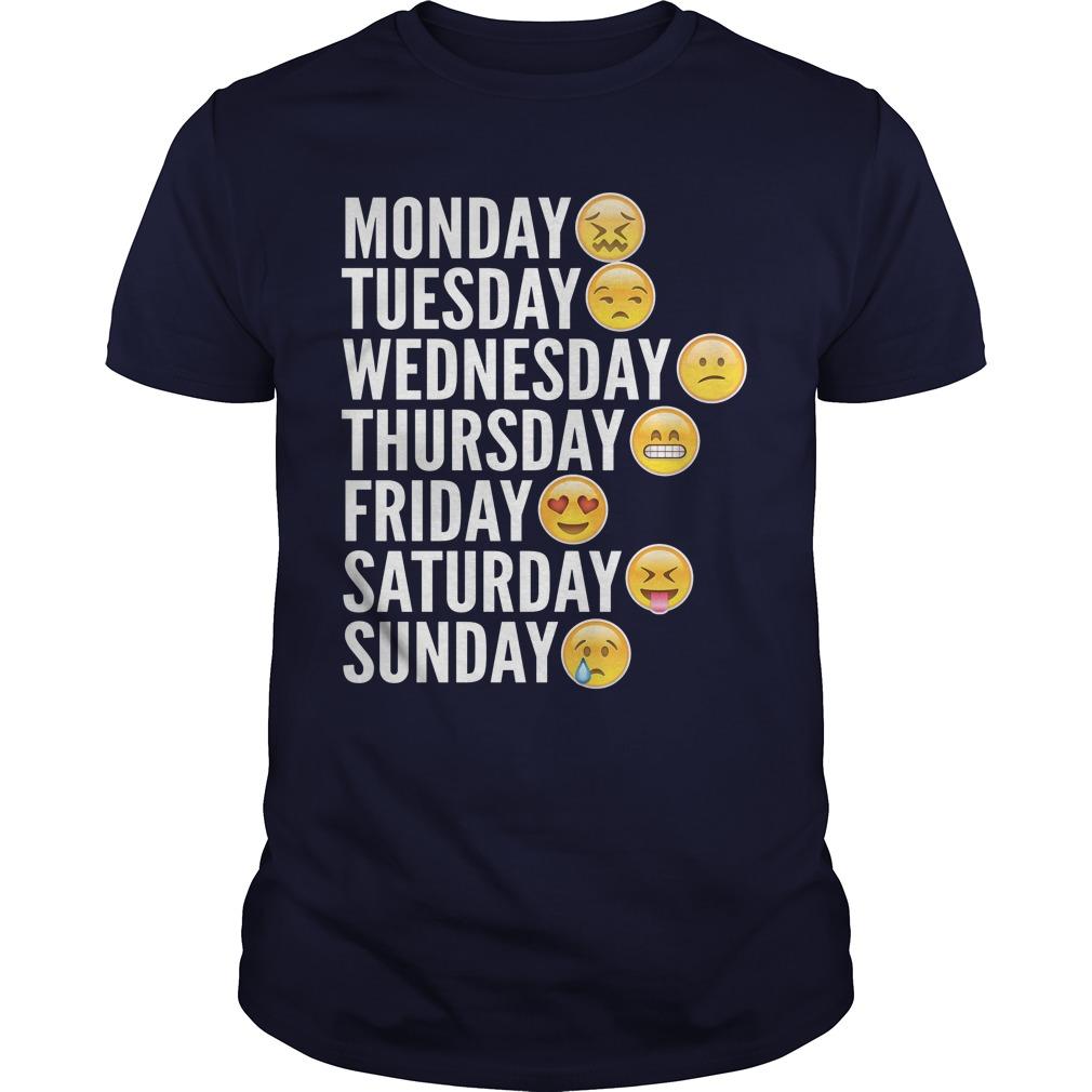 Emoji Days Week Guy Shirt