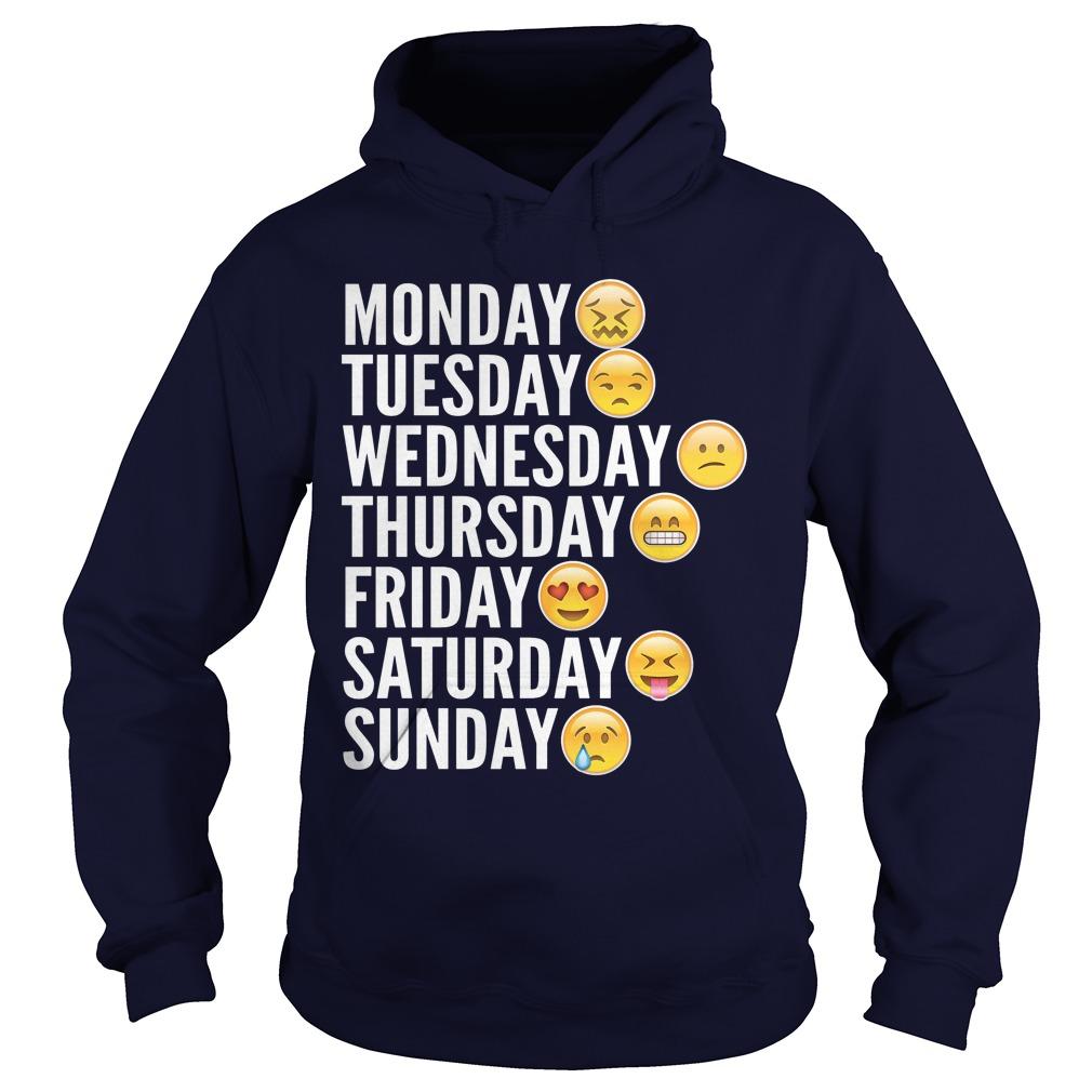 Emoji Days Week Hoodie