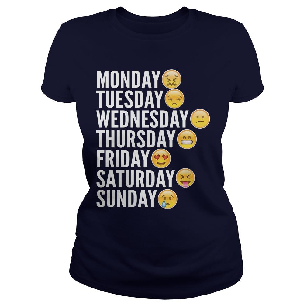 Emoji Days Week Ladies