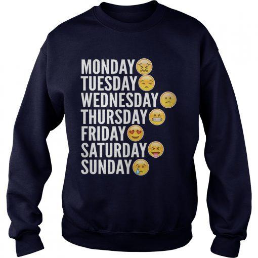 Emoji Days Week Sweat Shirt