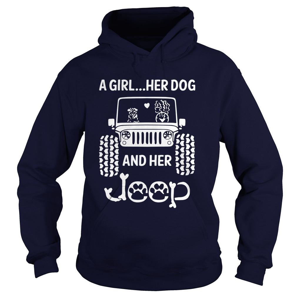 Girl Dog Jeep Hoodie