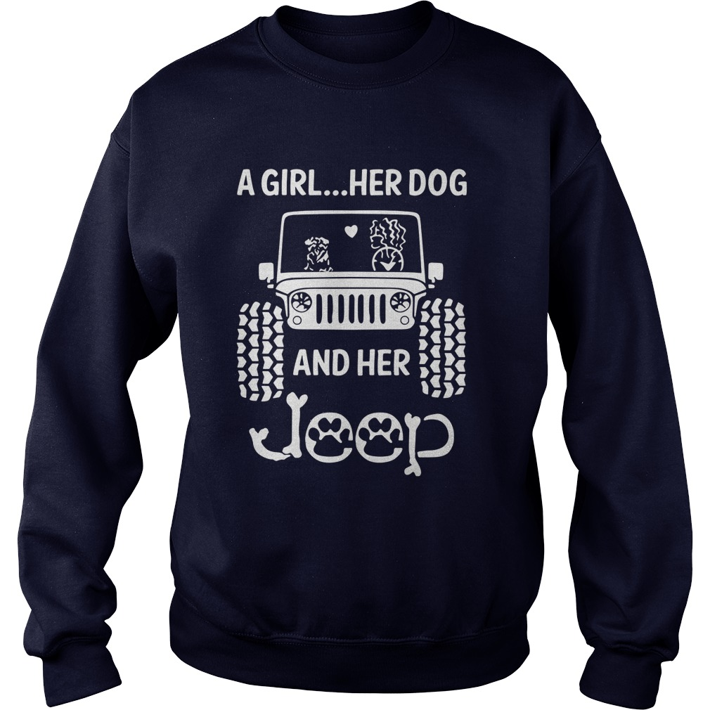 Girl Dog Jeep Sweat Shirt