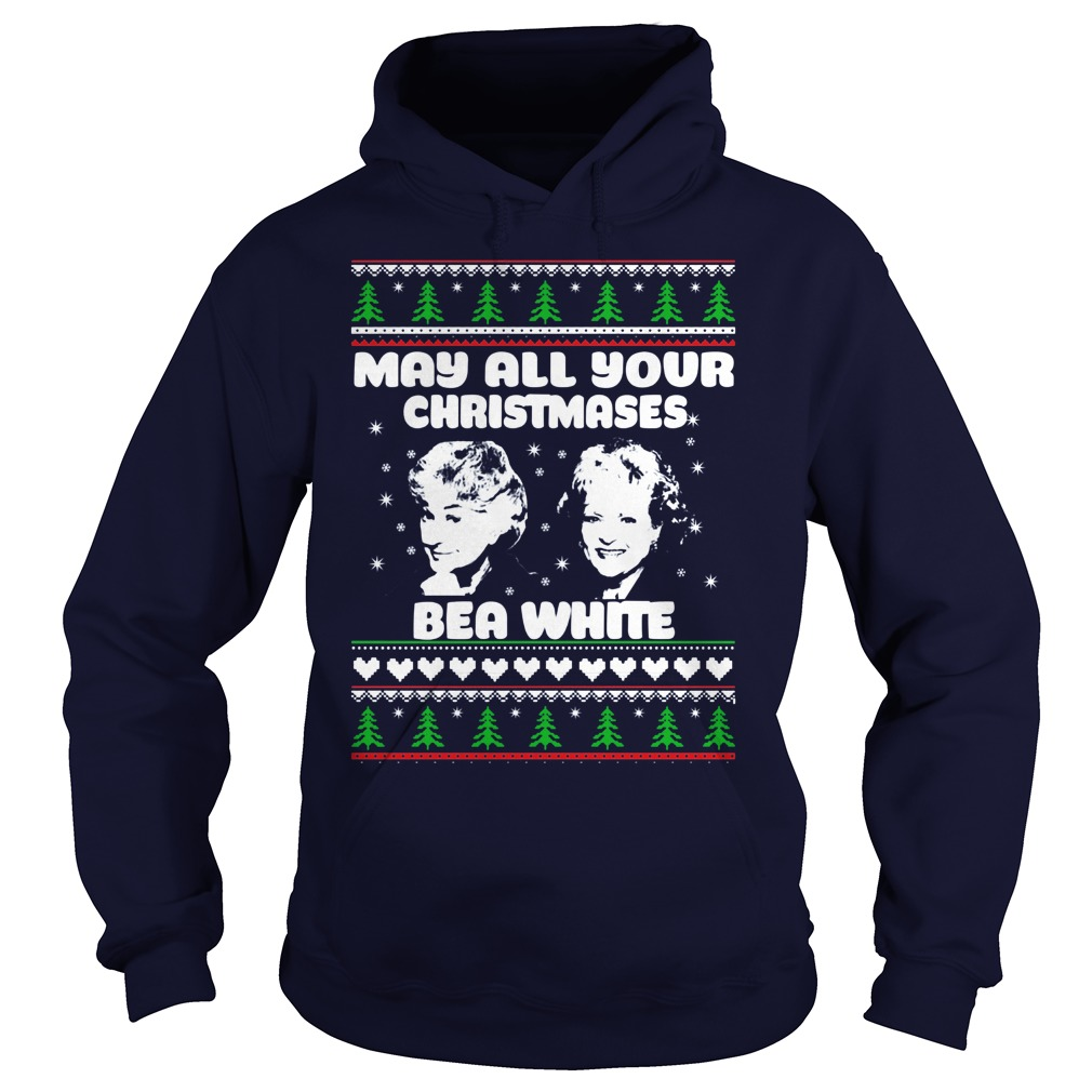 Golden Girls May Christmas Bea White Hoodie