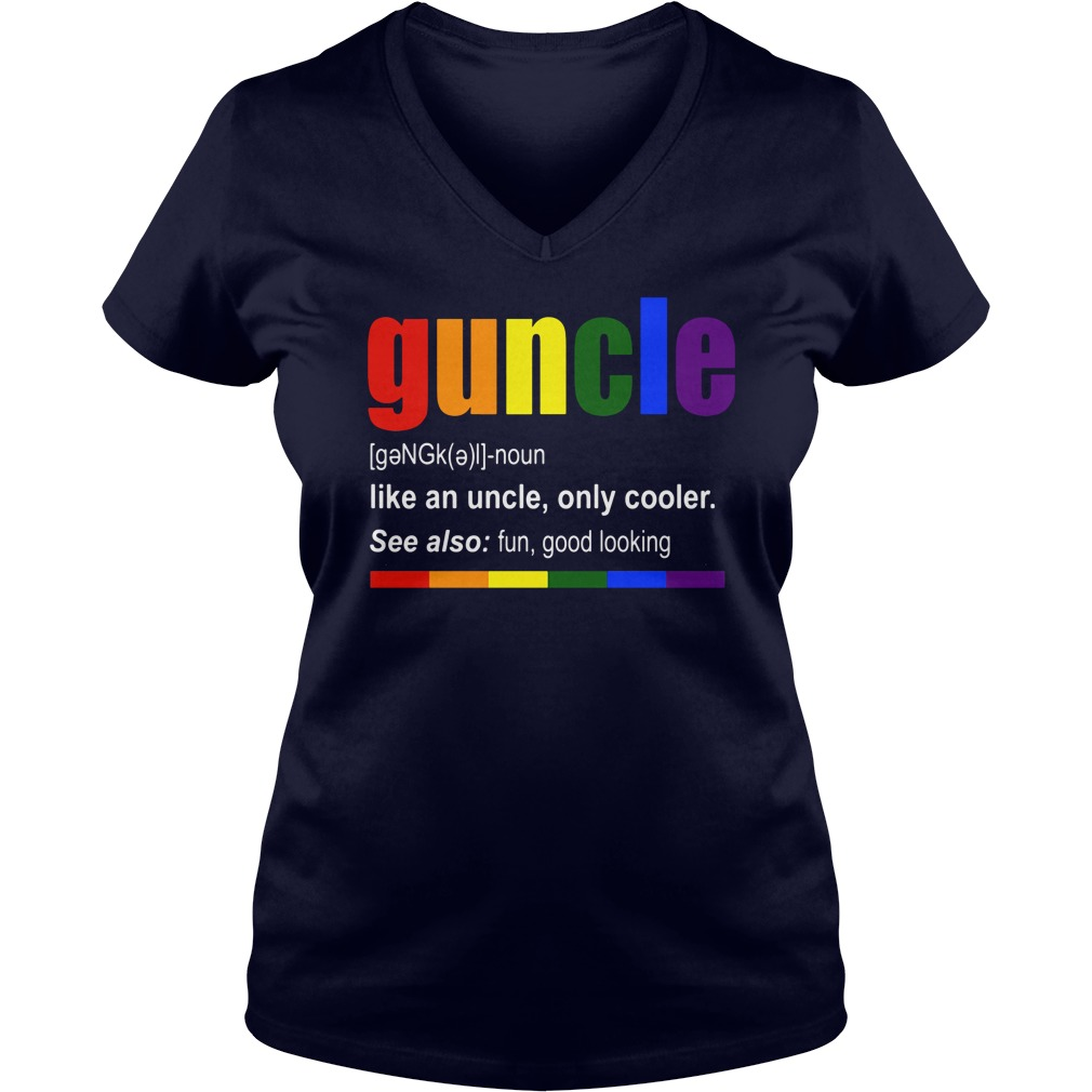 Guncle Definition Like Uncle Cooler V Neck