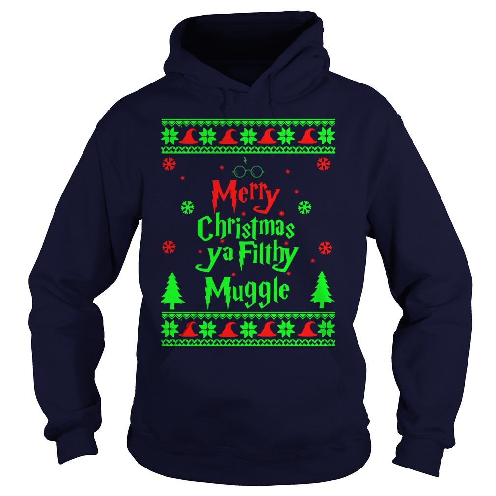 Harry Potter Merry Christmas Ya Fit Mugge Hoodie