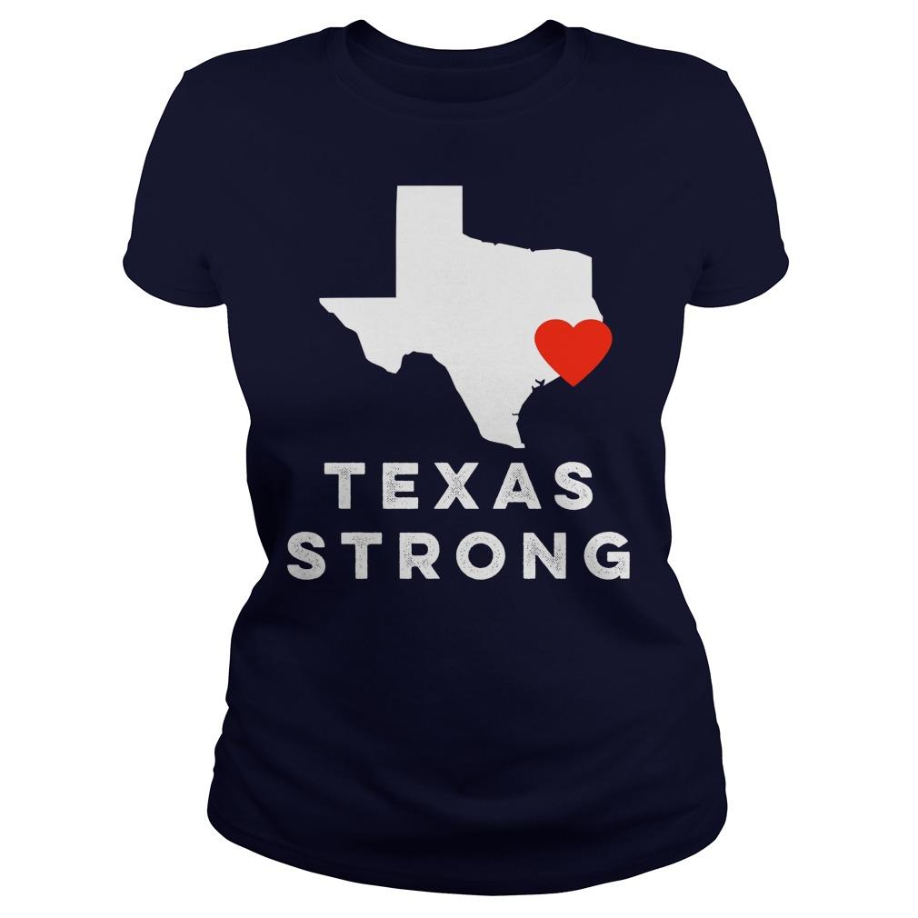 I Love Houston Texas Ladies Tê