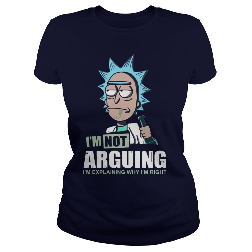 Im Not Arguing Im Explaining Im Right Ladies Tee