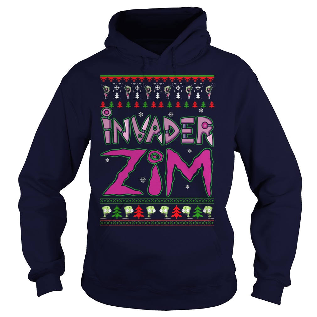 Invader Zim Christmas Hoodie