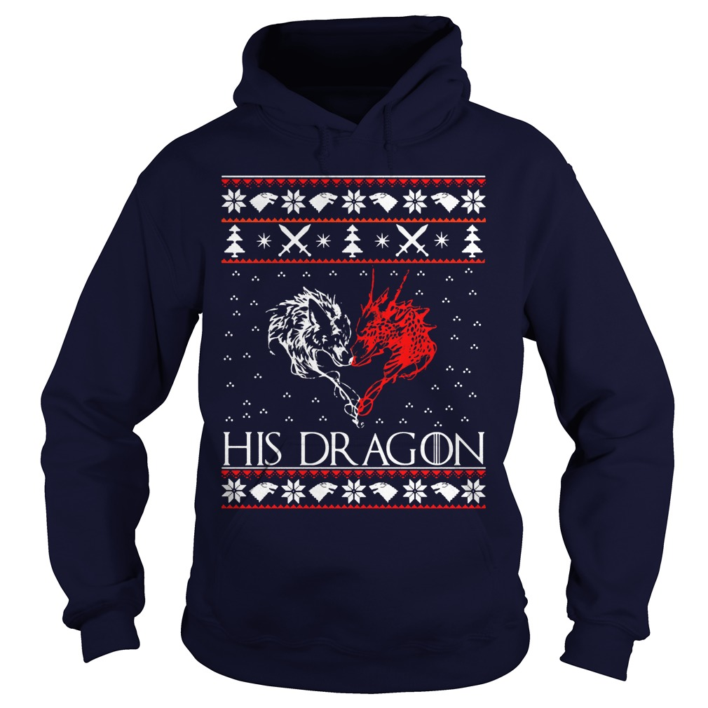 Jon Snow His Dragon Ugly Christmas Sweater Hoodie