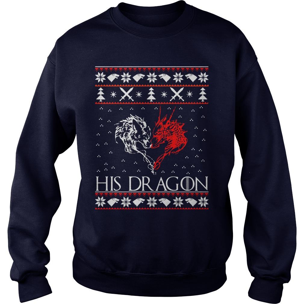 Jon Snow His Dragon Ugly Christmas Sweater Sweater Shirt
