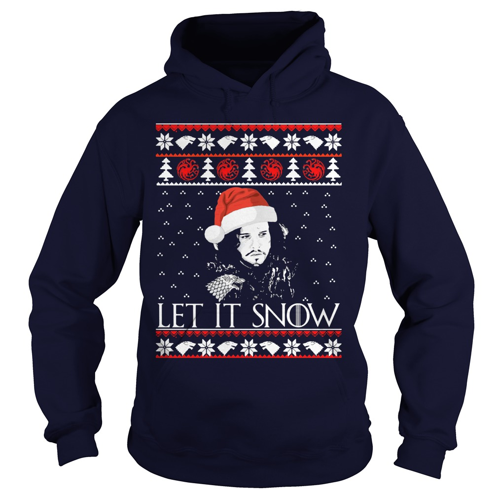 Jon Snow Let It Snow Christmas Sweater Hoodie