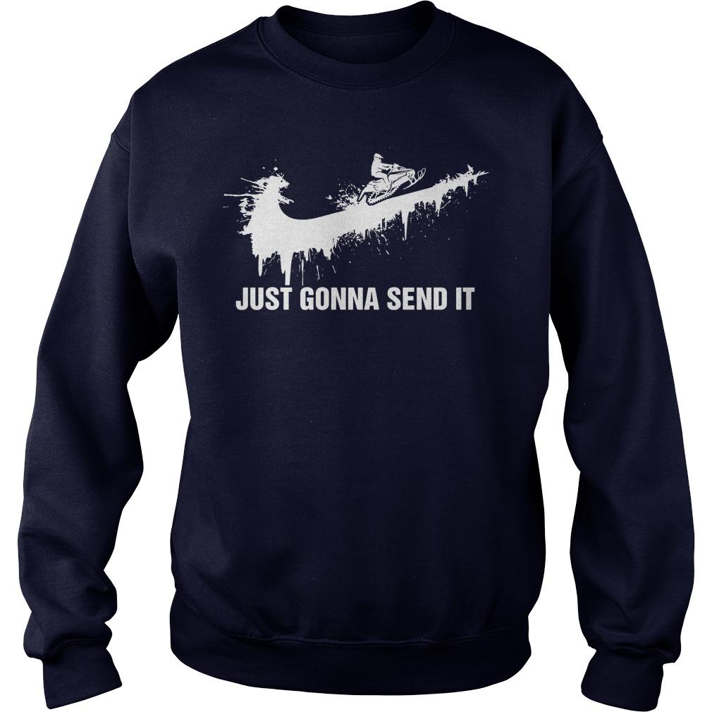 Just Gonna Send Snow Moto Sweatshirt