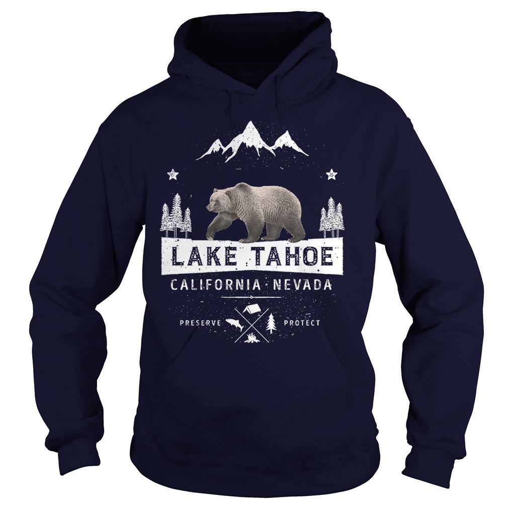 Lake Tahoe California Nevada Bear Hoodie