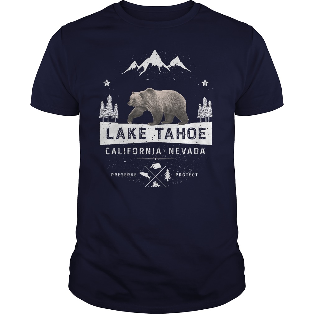 Lake Tahoe California Nevada Bear Shirt