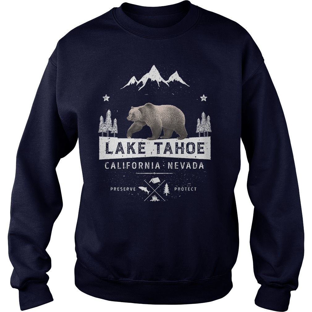 Lake Tahoe California Nevada Bear Sweat Shirt