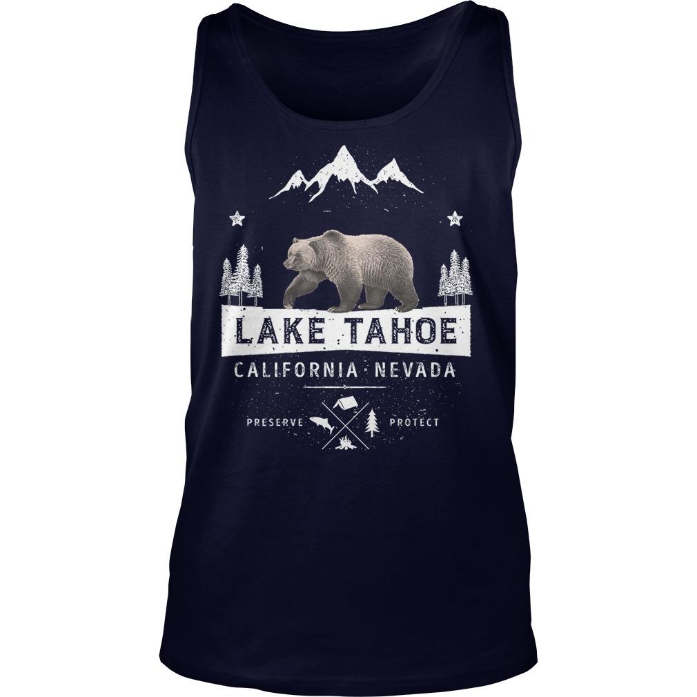 Lake Tahoe California Nevada Bear Tank Top