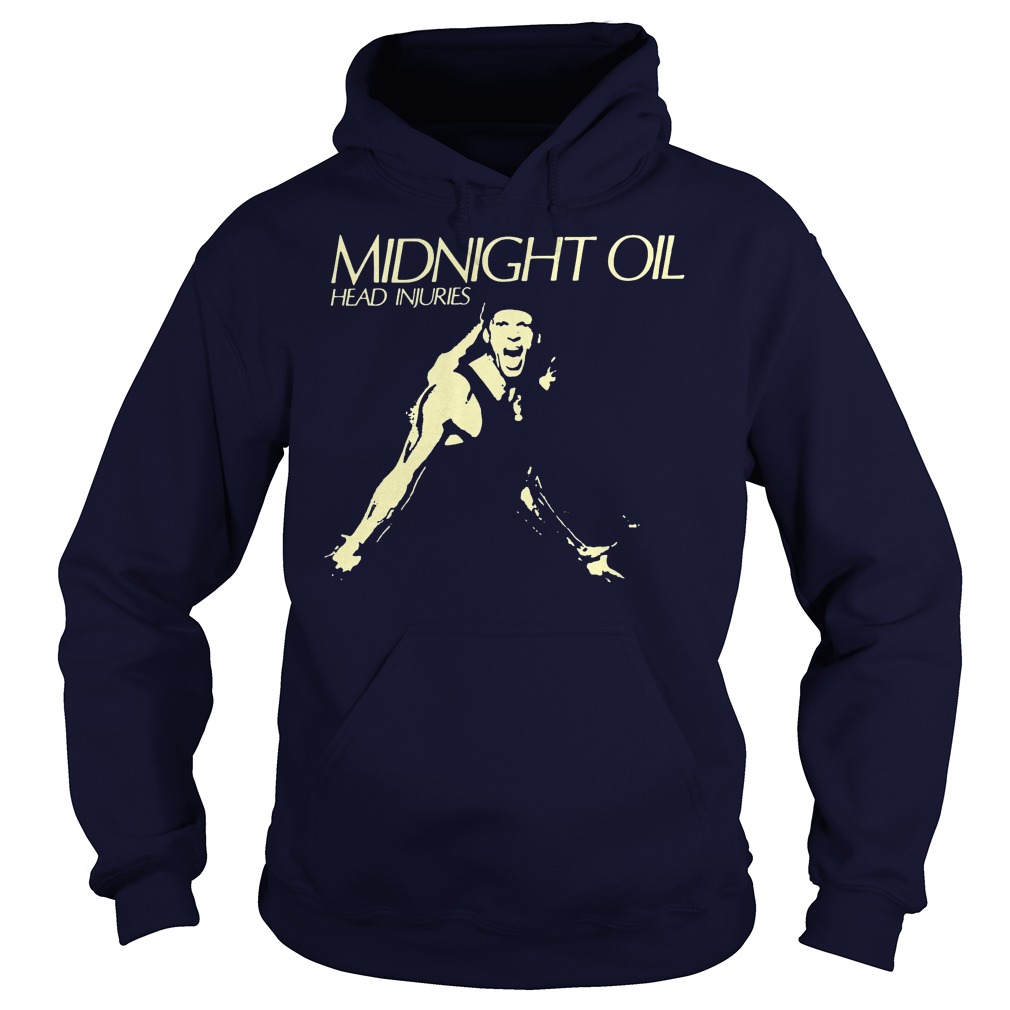 Midnight Oil Head Injuries Hoodie