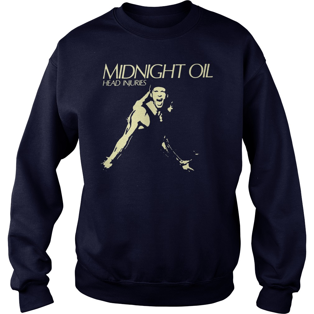 Midnight Oil Head Injuries Sweat Shirt