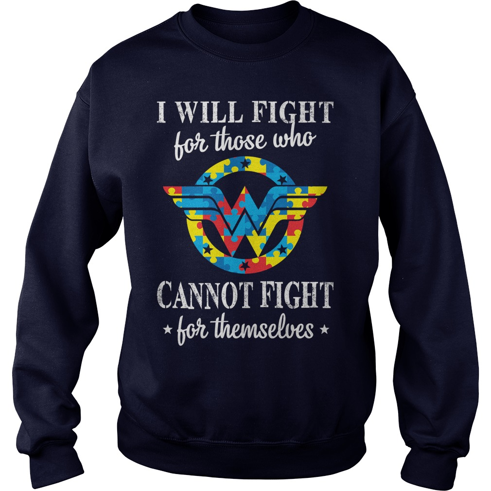 Mle Wonder Woman Autism Sweat Shirt