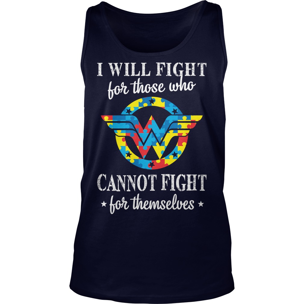 Mle Wonder Woman Autism Tank Top