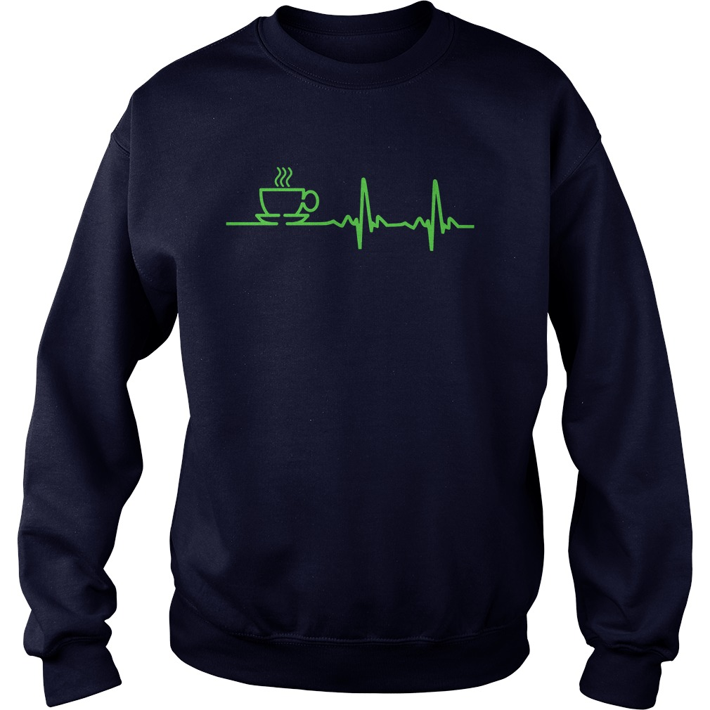 Morning Coffee Heartbeat Ekg Sweat Shirt