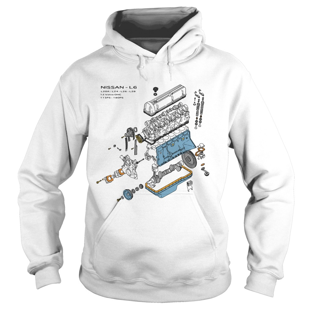 Nissan L6 Exploded View Hoodie