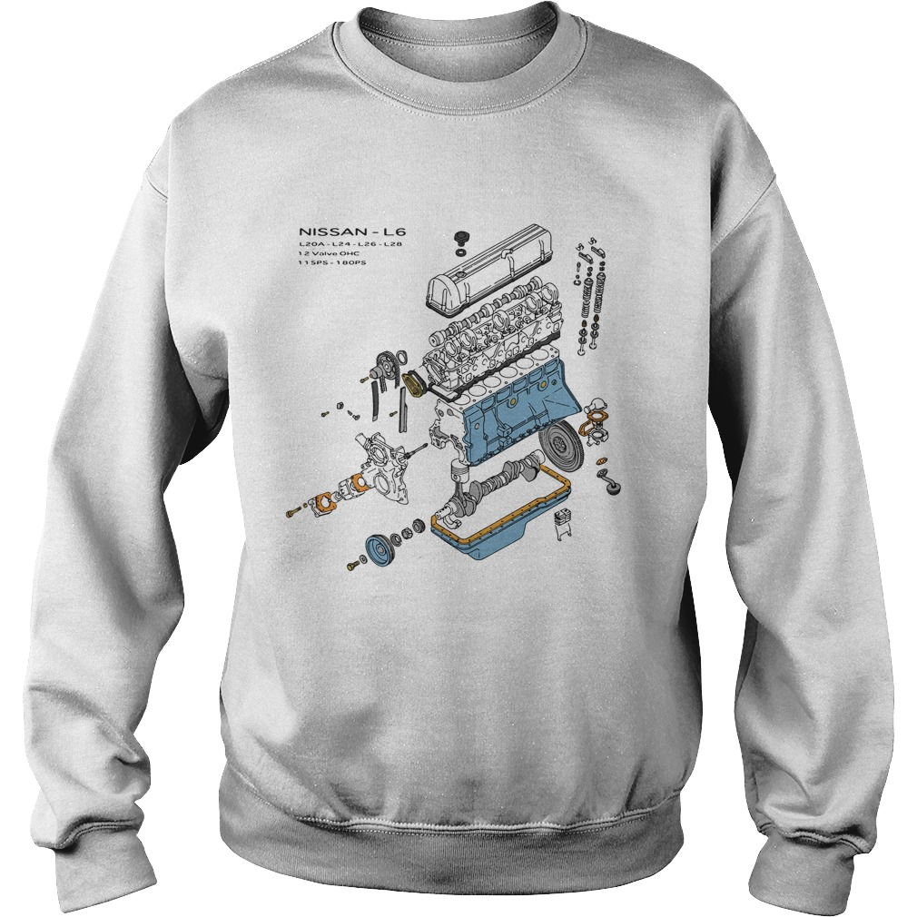 Nissan L6 Exploded View Sweatshirt