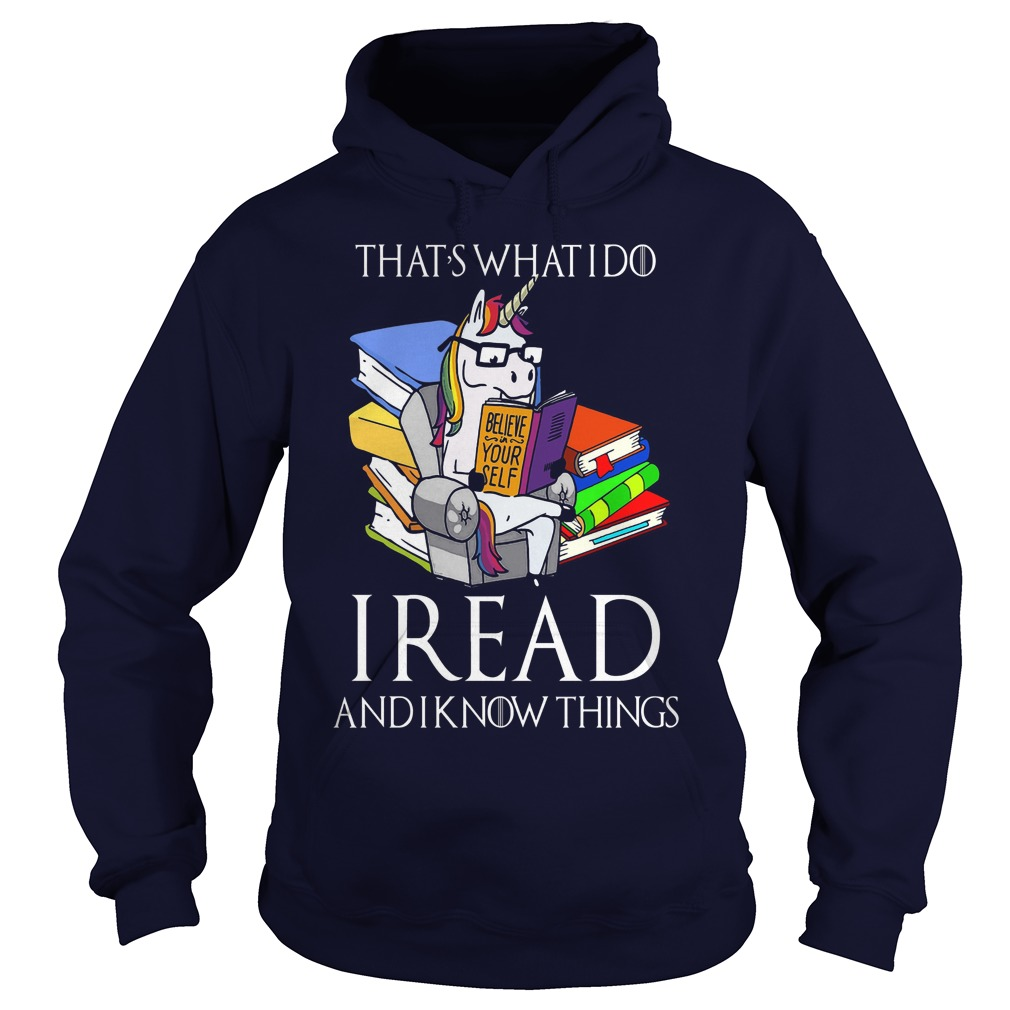 Read Know Cute Unicorn Book Hoodie