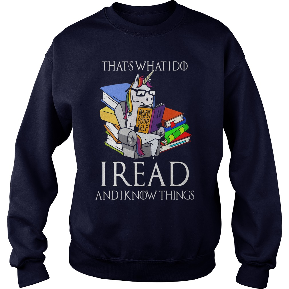 Read Know Cute Unicorn Book Sweat Shirt