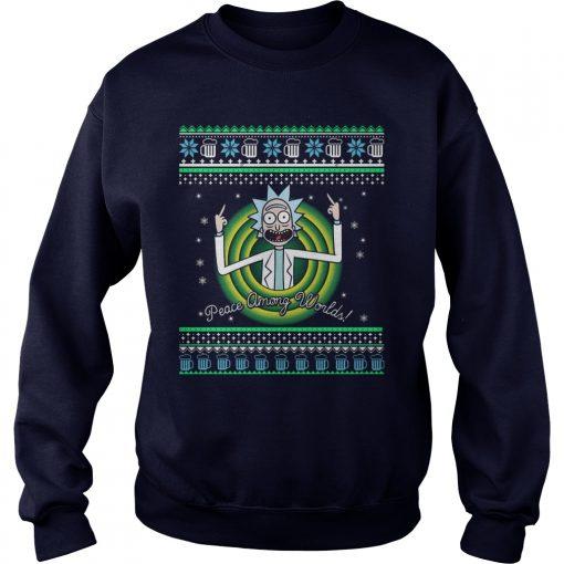 Rick Morty Peace Among Worlds Sweater